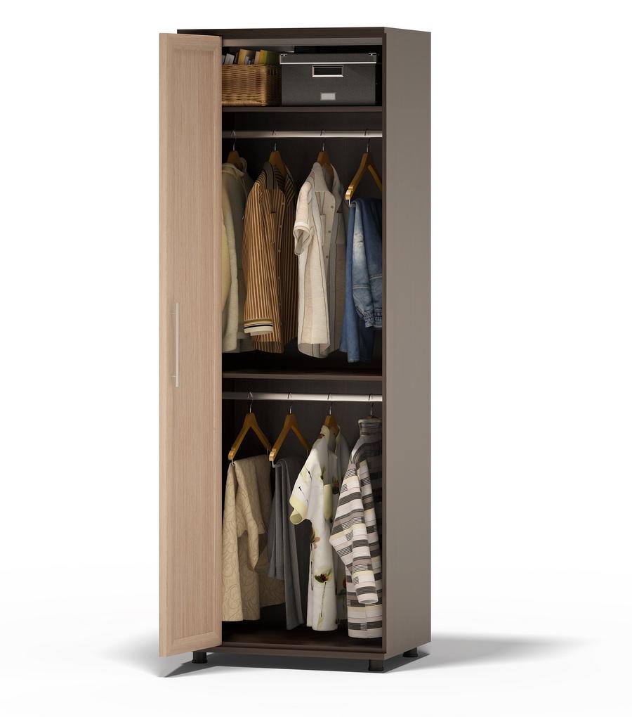 Шкаф для одежды с полками и двумя штангами шг-208.2 лев/прав.