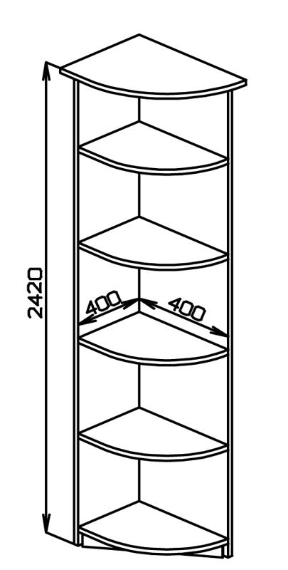 Угловые полочки схема чертеж