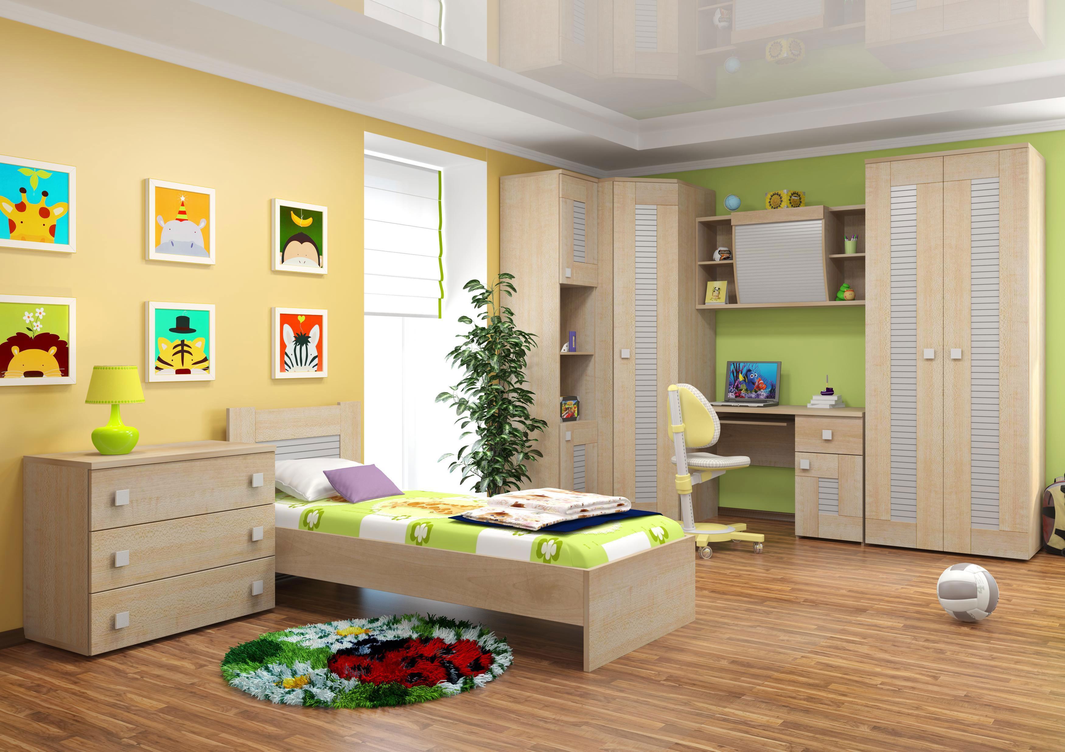 """Купить детскую комнату """"саша модерн"""" от мебельной фабрики """"и."""