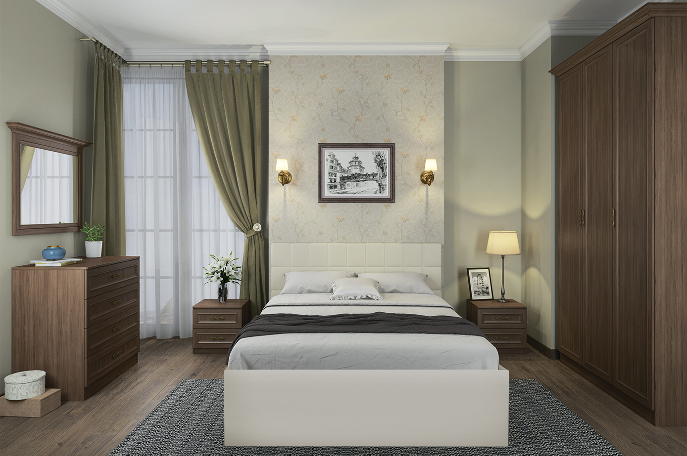 спальня классика комплектация 2 купить за 41210 руб в москве по