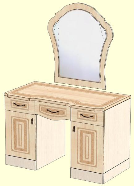 Туалетный столик с зеркалом версаль лд 604.060 - купить за 0.