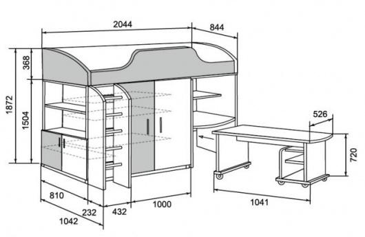 Мебель с схема